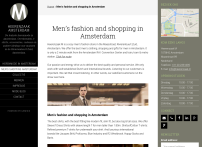 Men's fashion in Amsterdam