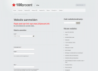 Website aanmelden | 100 Procent