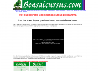 e-Cursus Bonsai-beginners