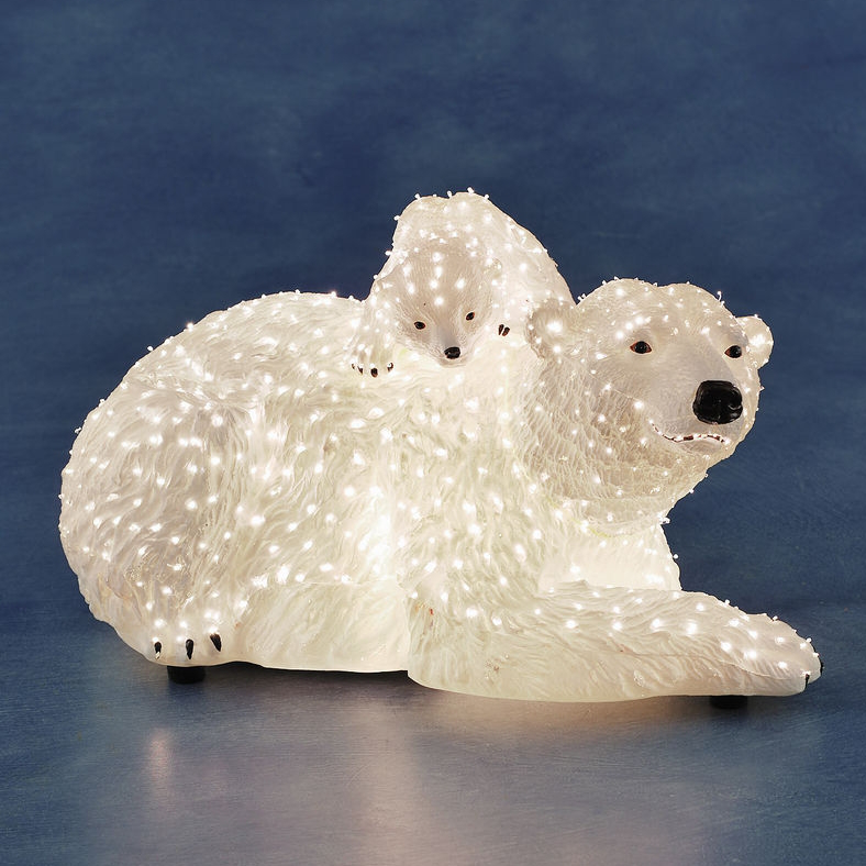 Want To Buy Konstsmide Fiber Optic Led Polar Bear With Young Frank