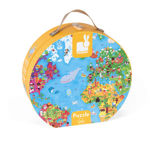 Janod World map puzzle case