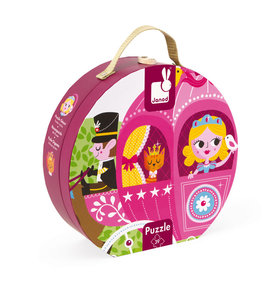 Janod Princess carriage puzzle case