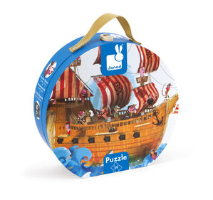 Janod Pirate ship puzzle case