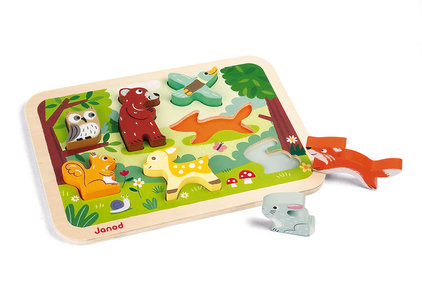 Janod Chunky Forest animals puzzle
