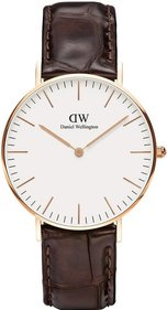 Daniel Wellington Classic York Rosé 36mm horloge