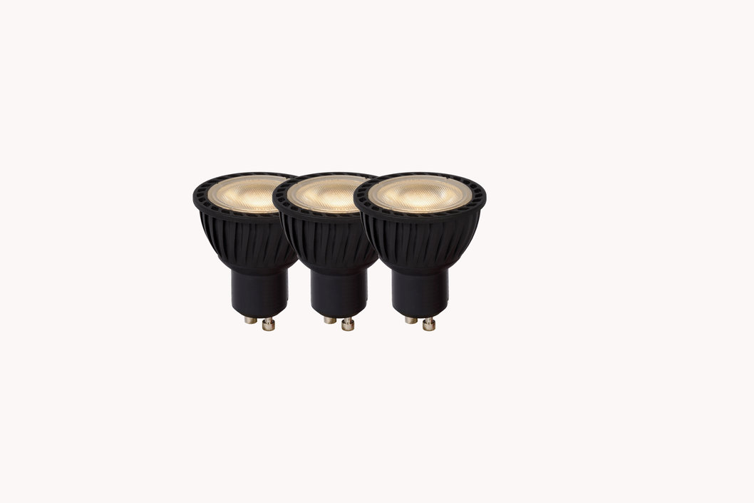 Lucide LED GU10 5W lichtbron 3-pack