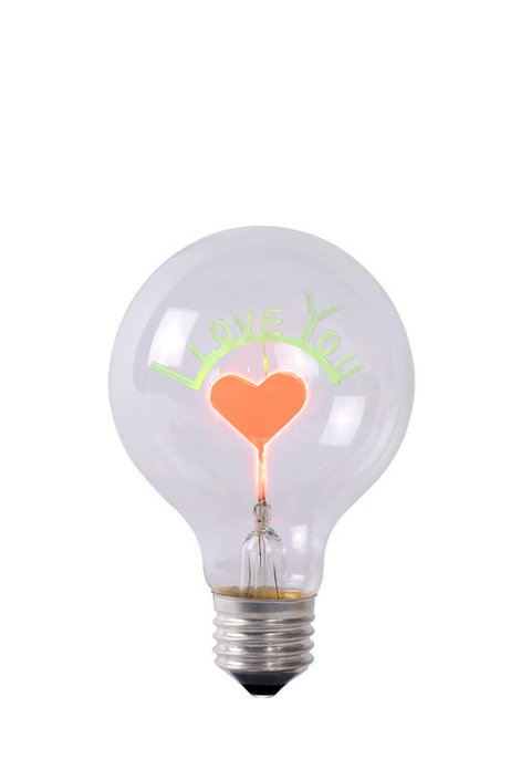 Lucide Love You E27 LED Glühbirne