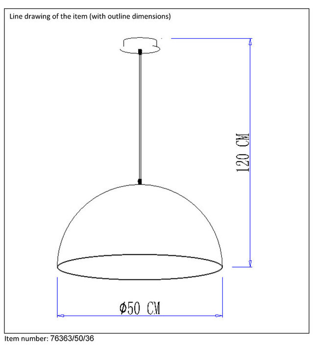 Lucide Mattie Medium hanglamp