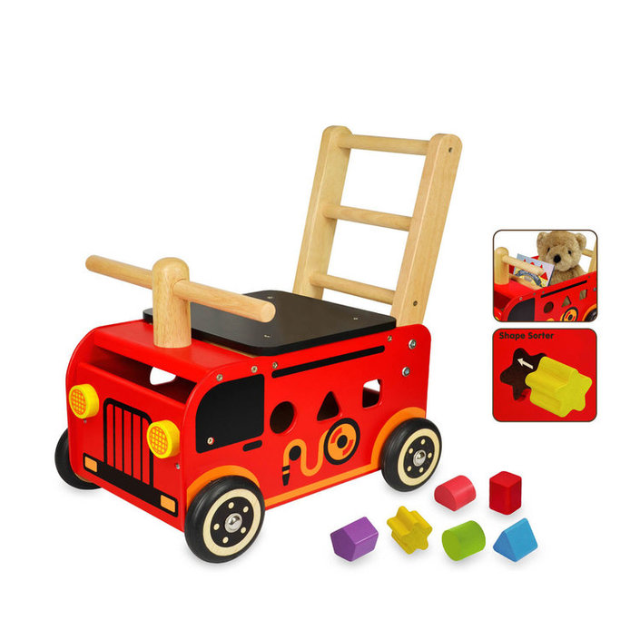 I'm Toy Firetruck walk cart