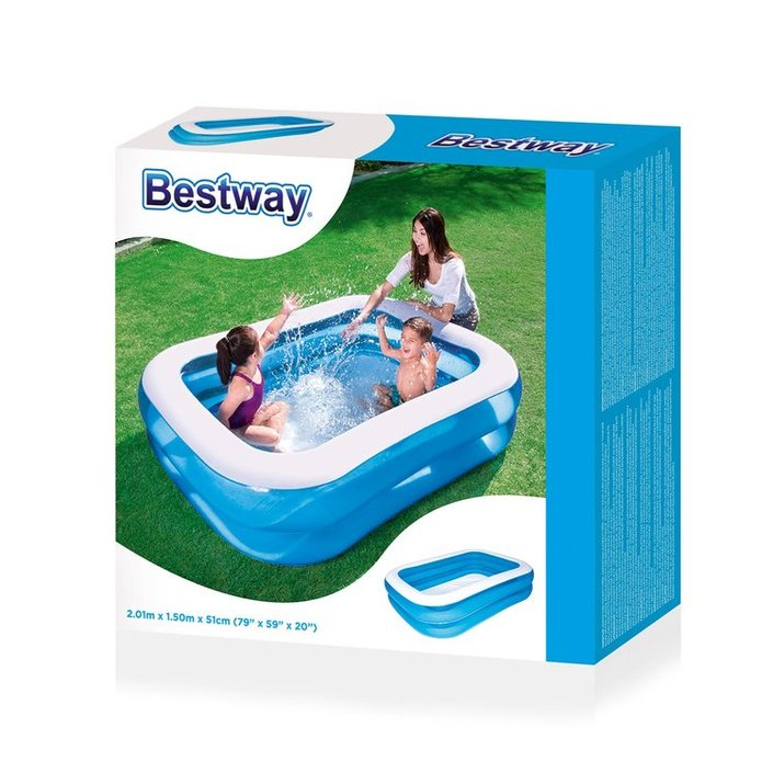 Bestway inflatable paddling pool 201x150x51cm