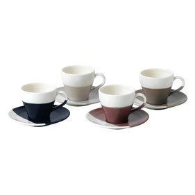 Royal Doulton Coffee Studio Esprossokop En Schotel - Set Van 4