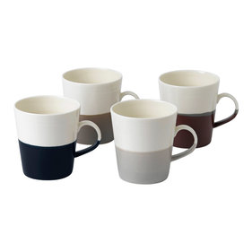 Royal Doulton Coffee Studio grote mok - set van 4