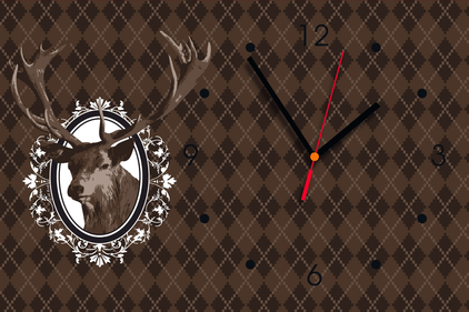 Contento Reindeer Design 1 wall clock
