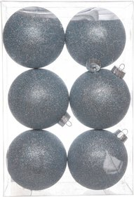 Cozy @ home Glitter Christmas baubles