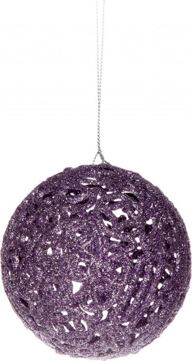 Glitter Christmas bauble Baroque
