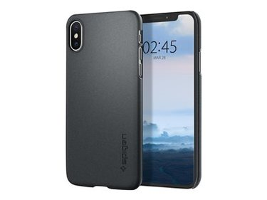 Spigen iPhone XS Case Thin Fit Graphite Gray