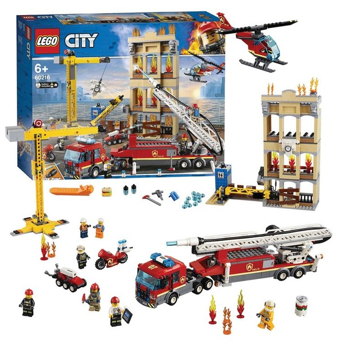 LEGO City Fire station in the city - 60216 on checkfrank co uk | Frank