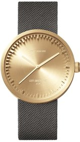 LEFF amsterdam Tube Watch Messing D38 Uhr