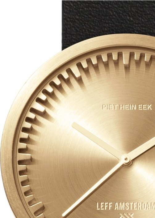 LEFF amsterdam Tube watch messing D38 horloge