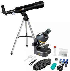 National Geographic telescope + microscope set with smartphone adapter