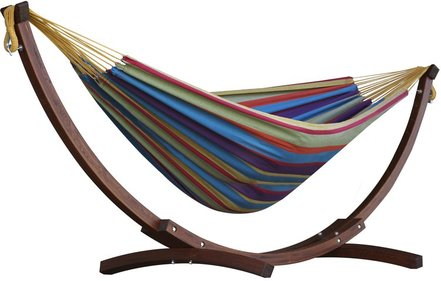 Vivere Combo Pine hammock with stand