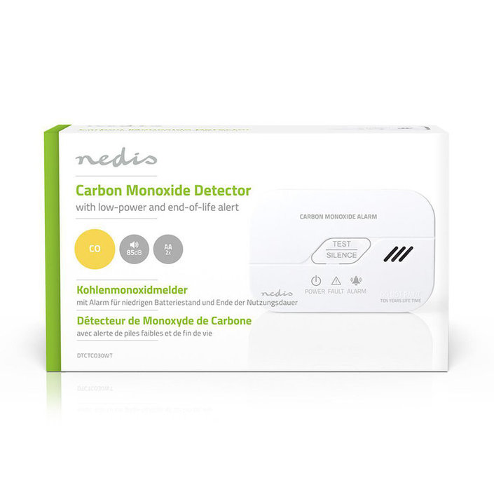 Nedis Koolmonoxidemelder met low-battery signaal