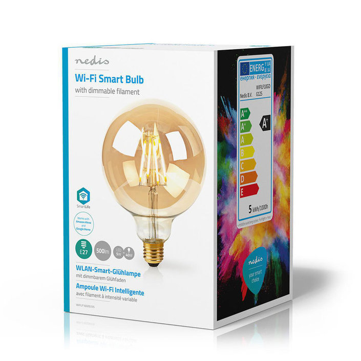 Nedis Wi-Fi Smart LED-Lamp E27 - Bolvormig