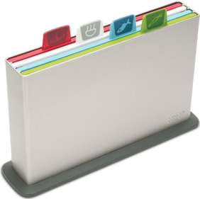 Joseph Joseph Index Advance Plus Silver cutting board set