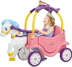 Little Tikes Princess trekwagen en loopauto
