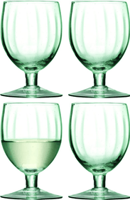 LSA Mia Wine Glasses - Recycled Glass - 350 ml - Set of 4 pieces