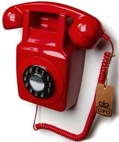 GPO 746 Rotary telephone on wall red