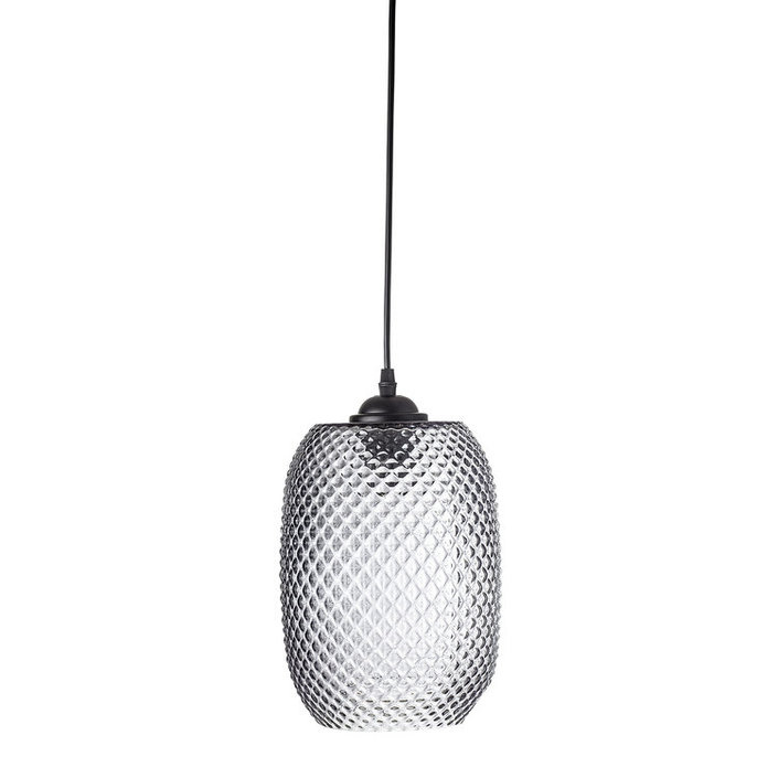 Bloomingville gray glass hanging lamp