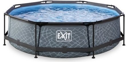 EXIT round swimming pool with filter pump