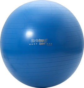 Christopeit Gym ball 75 cm incl. Pump blue