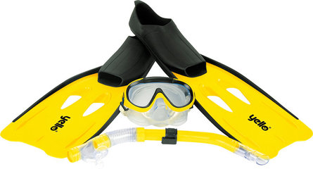 Yello snorkel set yellow size 44-45