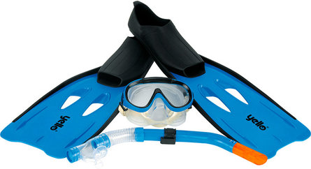 Yello snorkel set blue size 44-45