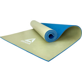 Reebok yogamat 6 mm double sided blauw/groen