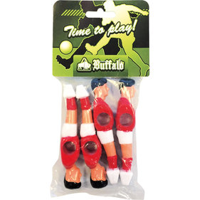 Buffalo table football doll 13 mm red / white 4 pieces
