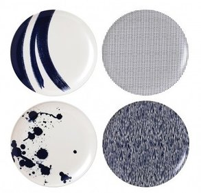 Royal Doulton Pacific Outdoor Melamine 20,5 cm saladebord - set van 4