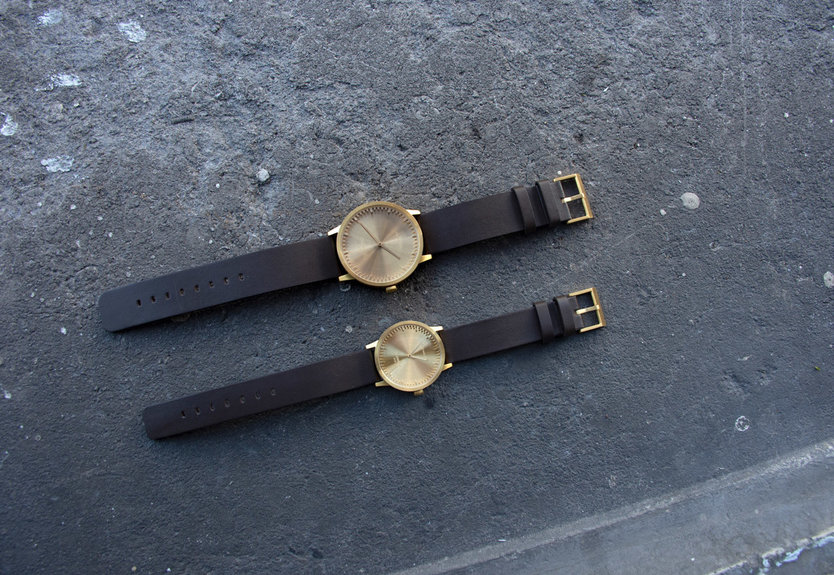 LEFF amsterdam Tube Watch Messing T32 Uhr