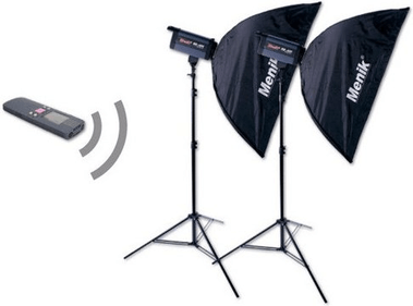 Menik flash set 2x CD-400 AP.