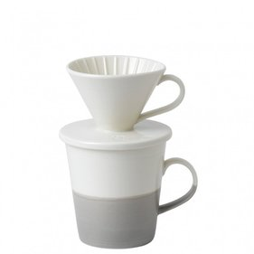 Royal Doulton Coffee Studio Dripper & Mok Set - Grijs