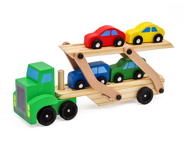 Valetti wooden car transporter with 4 cars