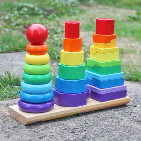 Valetti Wooden Rainbow Stacking Tower