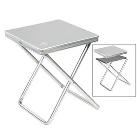 Bo-Camp - Stool + tray - Gray