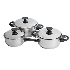 Bo-Camp - Cookware Set - Capsule - 3-Piece - Stainless Steel