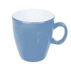 Bo-Camp - Mug - 100% Melamine - Ø 7.5x8.5 Cm - Two-tone Steel Blue