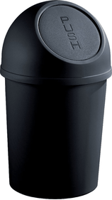 Helit Bin With Push Lid