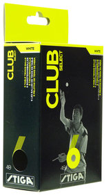 Stiga  Tafeltennis ballen Club Select wit 6-pack