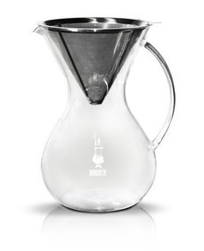 Bialetti Pour Over stainless steel coffee filter holder + glass jug